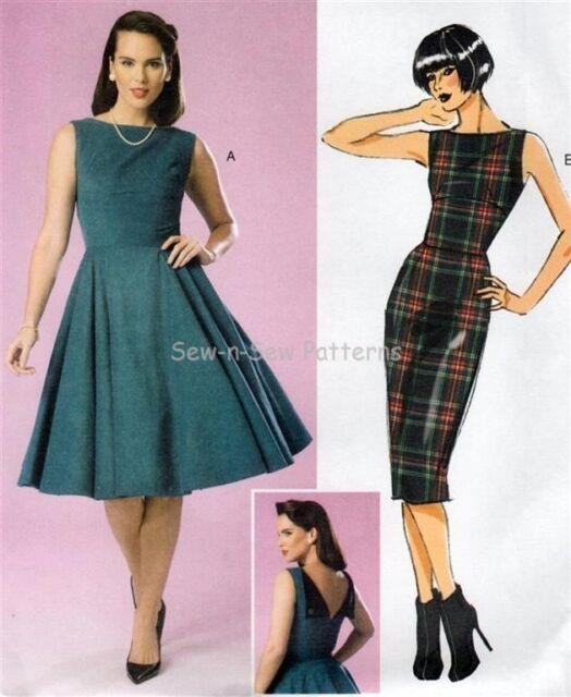 Butterick B6094 SEWING PATTERN 6-14 Vintage Retro Dress Rockabilly Swing Gertie