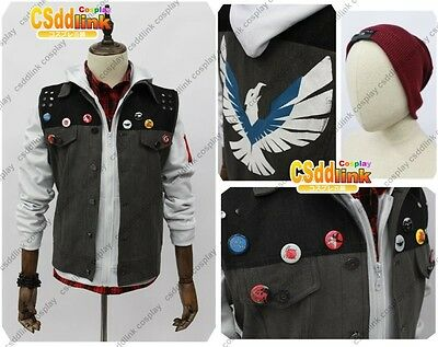 Second Son inFAMOUS 2 cosplay costume white version with headband