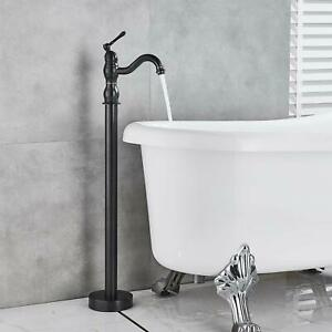 Oil-Rubbed-Bronze-Bathtub-Faucet-Free-Standing-Tub-Filler-Hot-Cold-Mixer-Tap