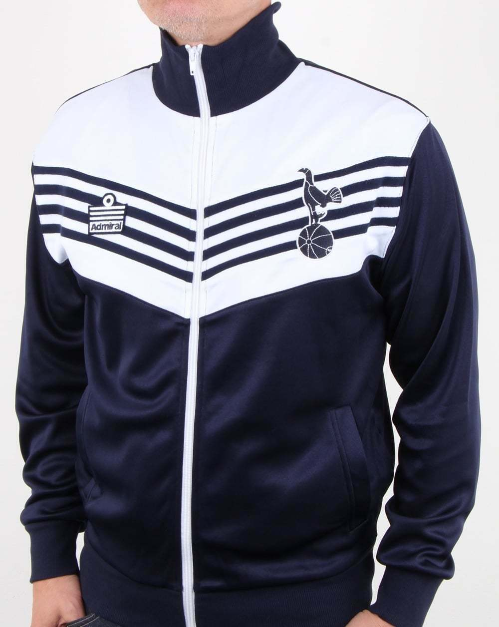 Tottenham 1978 Admiral Track Top in Navy & White - Official retro replica, Spurs