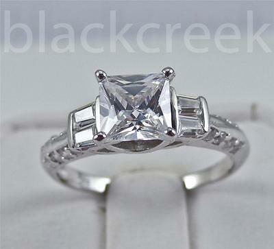 Silver 1.5ct Princess C.Z.Promise Ring Size 5/6/7/8/8.5/9/9.25/10/10.25