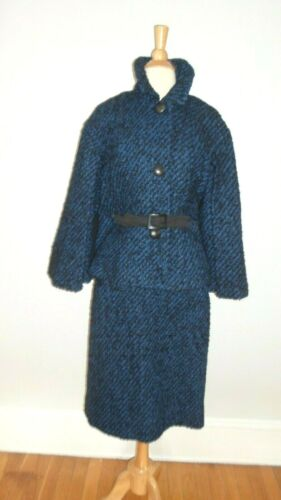 1960's Mod VINTAGE Outstanding CAPE JACKET Dress N