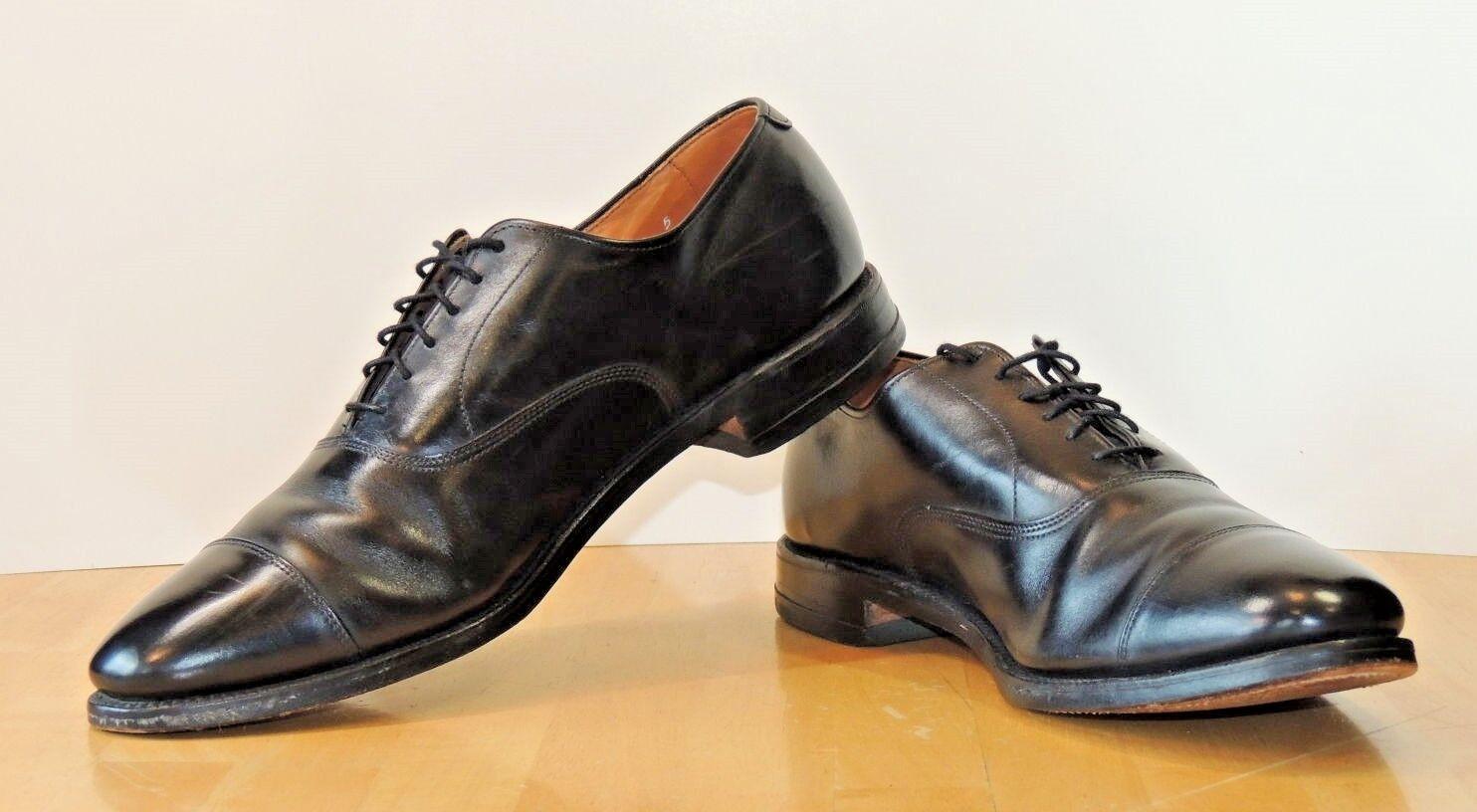 Men Black Cap-Toe Allen Edmonds Park Avenue 12B Dress shoes Oxford USA 5615 VGUC