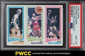 1980 Topps Basketball Larry Bird & Magic Johnson ROOKIE RC PSA 8 NM-MT