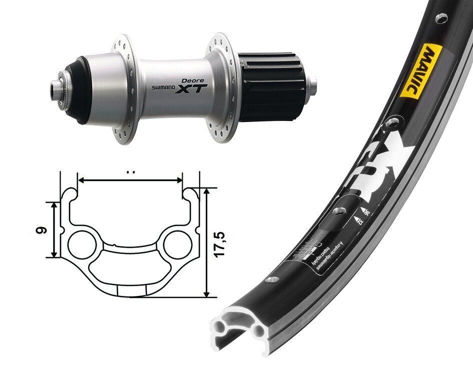 Bike-Parts 26″ Roue Arrière MAVIC MAVIC MAVIC XM 117 + Shimano Deore XT 8/9 Vitesses ( Qr ) c3a219