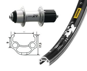 Bike Parts 26 Back Wheel Mavic Xm 117 Shimano Deore Xt 8 9 Fach