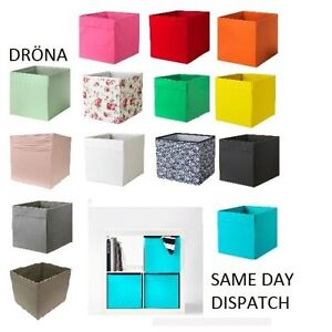ikea drona box expedit magazine storage kallax shelving shelf boxes brand new ebay. Black Bedroom Furniture Sets. Home Design Ideas