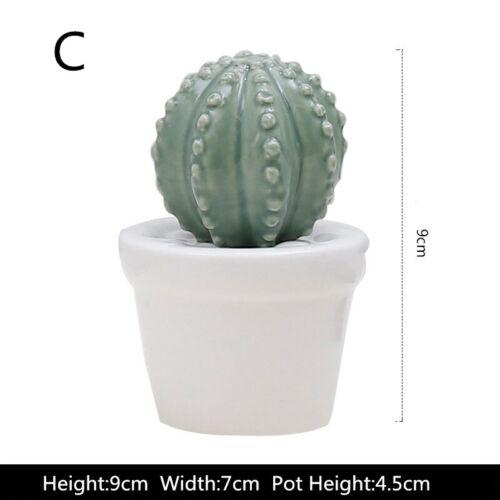 Creative Ceramic Crafts Simulation Plant Cactus Ball Fake Potted Bonsai Decor