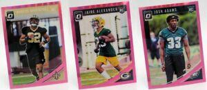 2018 Donruss Optic Pink Parallel Set Singles Prizm NFL Football Sports Cards