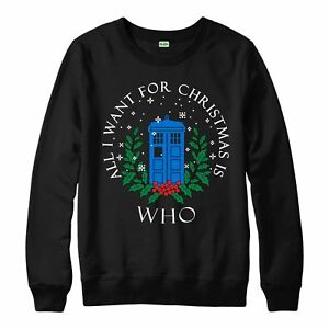 Merry Christmas Doctor Who Christmas Jumper Xmas For Adult /& Kids Top Gift
