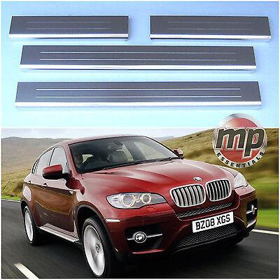Lockwood BMW X5 2007> Car Stainless Steel Kick Plate Door Sill Protectors - K194