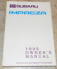 1995 subaru impreza owners manual new original