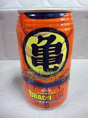 GOKU Empty 2012 Dydo DRAGONBALL Z Orange Soda Can