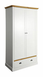 Image Is Loading Camden White Painted Wardrobe 2 Door Double Shaker