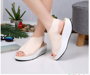 a300f66d5a34 Image is loading Women-039-s-Outdoor-Platform-Sandals-Summer-Thick-