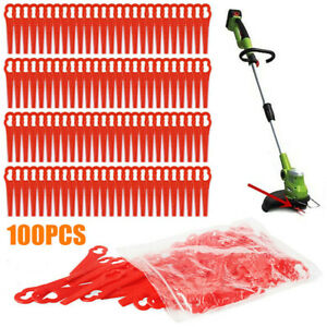 100Pcs-Red-Plastic-Replacement-Blade-Set-Kit-Line-Cordless-Grass-Trimmer-Power