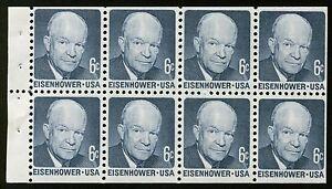 #1393a 6c Eisenhower, Folleto Pane-Dull Goma, Nuevo Cualquier 5=