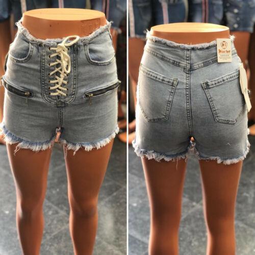 Women High Waist Ladies Summer Casual Short Jeans Hot Pants Ripped Denim Shorts