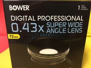 BOWER-0-43x-SUPER-Wide-Angle-LENS-72mm-to-Camera-Camcorder-Video-CANON-NIKON