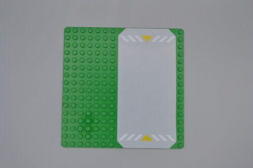 LEGO Straßenplatte 16x16 grün Polizei green police plate 30225 30225p01