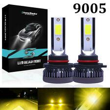 9005 Hb3 Mini Led Headlight Bulb Yellow 3000k 1600w 260000lm Hi Beam Front Light