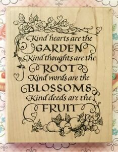 Psx K 1752 Poem Kind Hearts Garden Root Blossoms Fruit