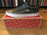 Vans Old Skool Leather Black White Polka Dot LX CDG UK 8 US 9 BNIB