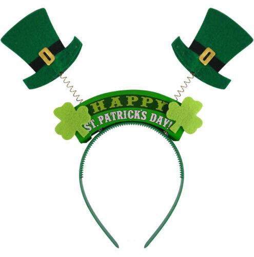 NEW Green Happy St Patricks Day Wiggly Head Bopper Paddy Headband Irish Ireland