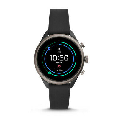 Fossil FTW6024 Womens Fossil Sport Smartwatch - 41mm Black Silicone 41 MM