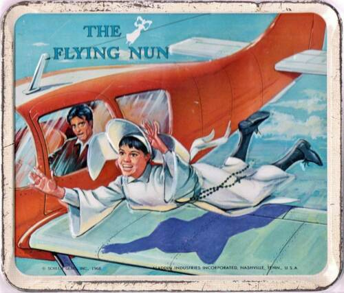 THE FLYING NUN Lunchbox Art Print 1960s