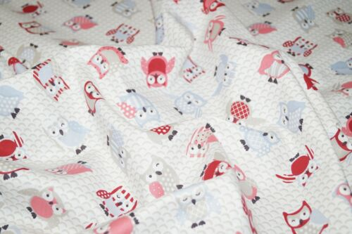 Toot Owl Rose 100/% Cotton Fabric Poplin Curtains Crafts Quilting Cushions