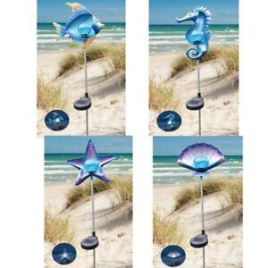 Maritime Beleuchtung solar garten stecker mit led beleuchtung maritime motiv muschel