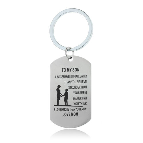 Lovely Family Portrait DADDY DAD MOM Birthday Gift Necklace Pendant Key Rings