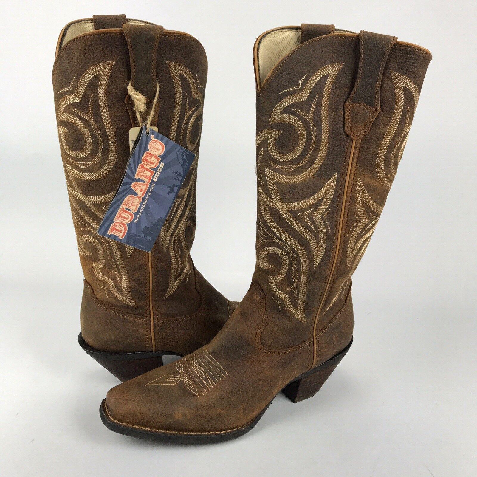 Nuevo botas Durango Crush Jealousy Mujer 8.5M Cuero Cowboy Oeste botas Nuevo Marrón Tostado 8b2f85