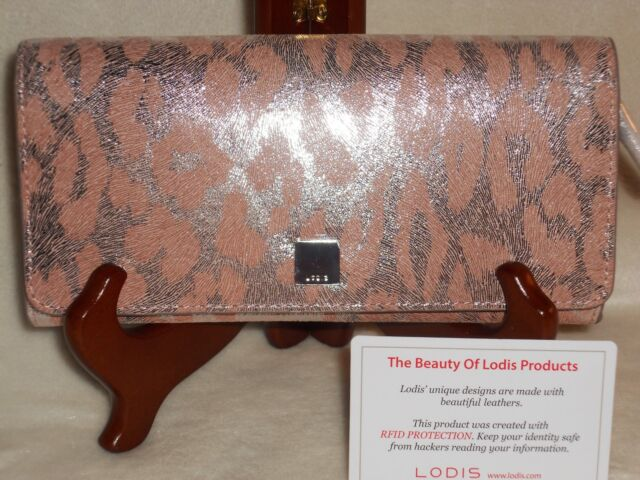 RFID Protected New Lodis Palm Quinn Framed Leather Wallet