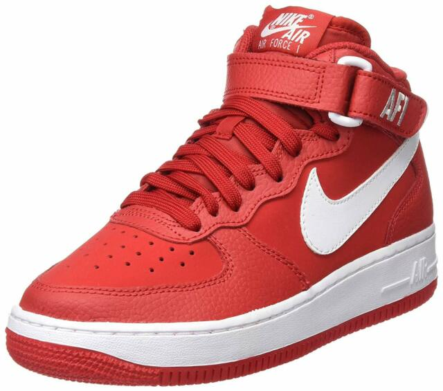 sports shoes 165ae 95e03 NIKE AIR FORCE 1 MID (GS) RED WHITE 314195 604 KIDS US SIZES
