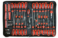Rolson Tools 100 PC Piece Screwdriver & Bit Set Kit Torx Precision Ratchet Pouch