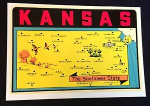 Details about Lindgren Turner Kansas State Map Water Decal K-1 in Orig on unc map, tech map, uga map, louisville map, navy map, clemson map, air force map, byu map, royals map, usc map,