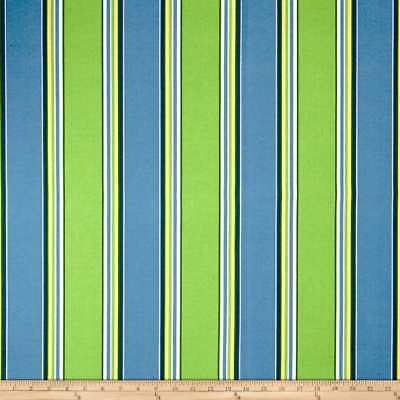 Haliwell Caribbean Richloom In Outdoor Poly Print Stripe Fabric Blue Green White Ebay
