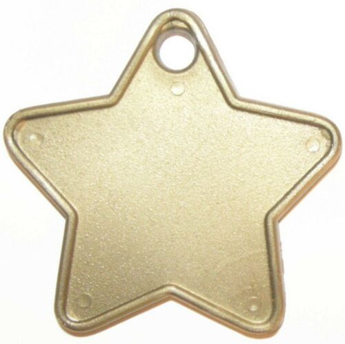 50 GOLD STAR BALLOON WEIGHTS plastic weights for helium foil balloons