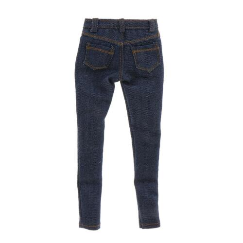 """1:6 Scale ZY HOT TOYS Women Casual Light Blue Jeans Pants For 12/"""" Figures"""