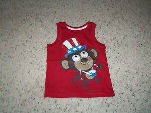 NEW BOYS JUMPIN BEANS DARK RED WITH MONKEY TANK SIZE 2T