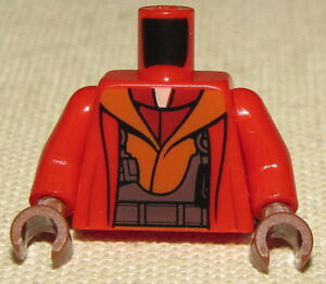 LEGO Minifig Star Wars Reddish Brown Torso Plain Band on Arm Neuf
