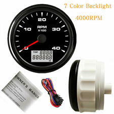 3 38 Tachometer 4000rpm For Diesel Engine Tacho 7 Colors Led Stainless 9 32vdc