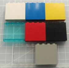 1x Lego Panel White 1x4x3 Fully Printed on Green Blue Telephone 6422 4215bpx18