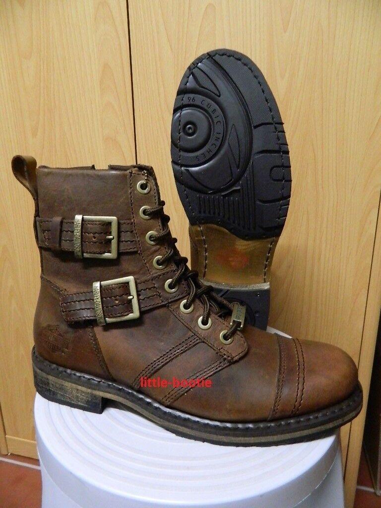 Harley-Davidson botas-botas de cuero señores de drexel marrón