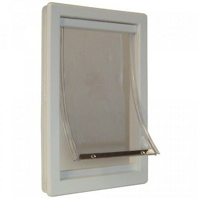 Pet Door Extra-Large 10.5 by 15-Inch Flap with Telescoping Frame, Dogs Cats, New