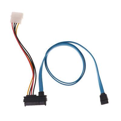7 Pin Sata Serial ATA to SAS 29 /& 4 Pin Power Cable Connector Adapter 70cm YG