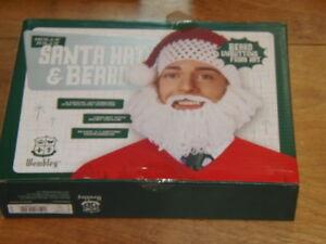 34784260e06 New Wembley Christmas Holly Jolly Santa Hat and Beard (GRN-210-29x2 ...
