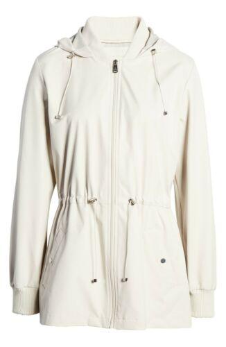 Bernardo Women/'s Beige Wind Proof Water Resistant Breathable Raincoat Jacket NWT